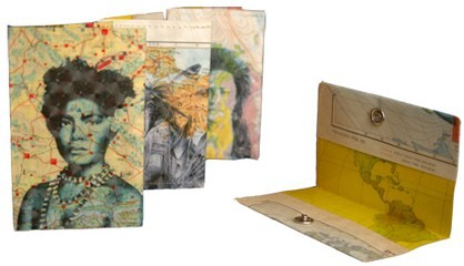 wallet sustainable art recycled paper handbag