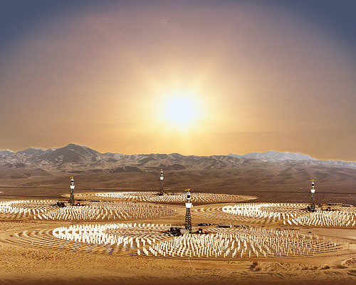 middle east solar energy farm photo