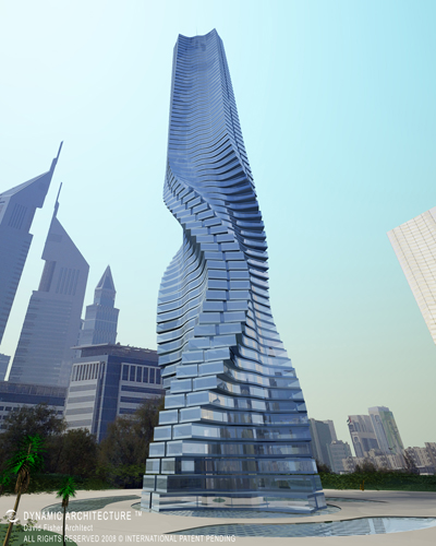 Dubai's Wind Powered Rotating Skyscraper is Building in Motion