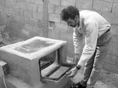 solar coooking oven gaza strip photo