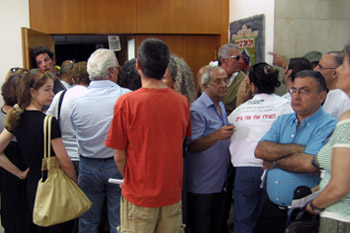 residents barred from meeting tel aviv photo