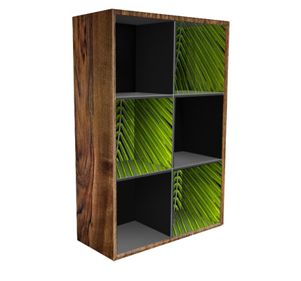 Krooom's Naggie Bookcase, which can hold up to 10 kgs per cell