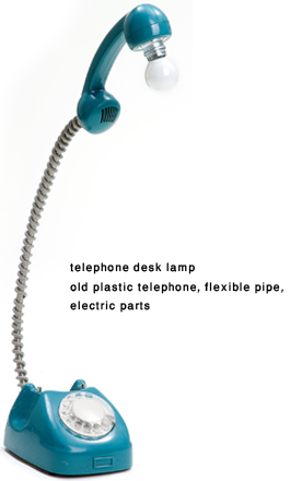 Junktion's Telephone Desk Lamp (comes in blue and pink)