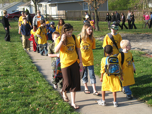 Walking Schoolbus in Missouri, USA