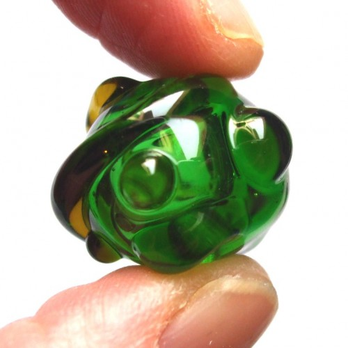 recycled beer bottle bead
