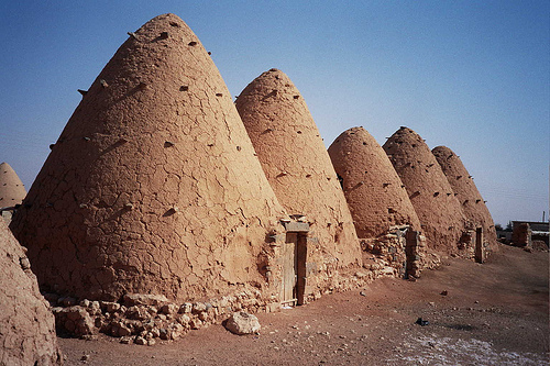 syria drought water beehive villlage photo