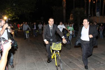 """Lebanese High Society Bike Down Green Carpet to Watch """"The Age of Stupid"""""""