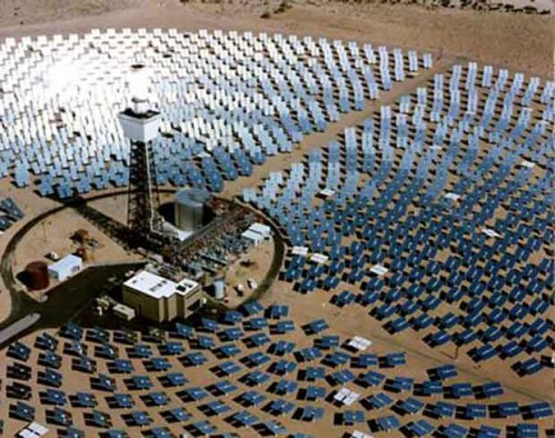 A Bright Source solar energy plant