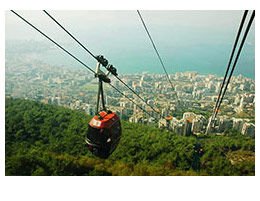 Cable Car passing through Harissa Forest