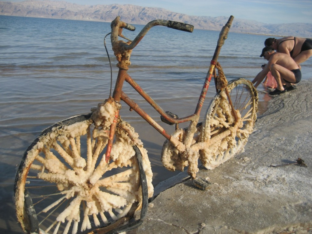 dead sea bike salt photo