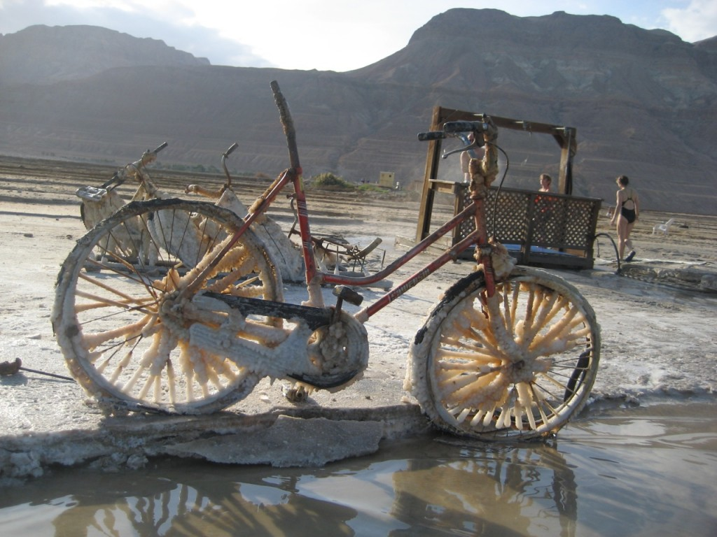 dead sea bike bicycle image