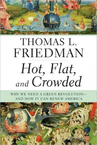 the world is flat book cover. friedman hot flat crowded