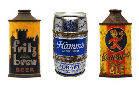 old beer cans vintage fritz brew photo