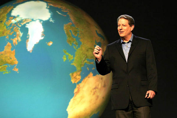 al gore with plabet behind him for Green Prophet environment news for the middle east