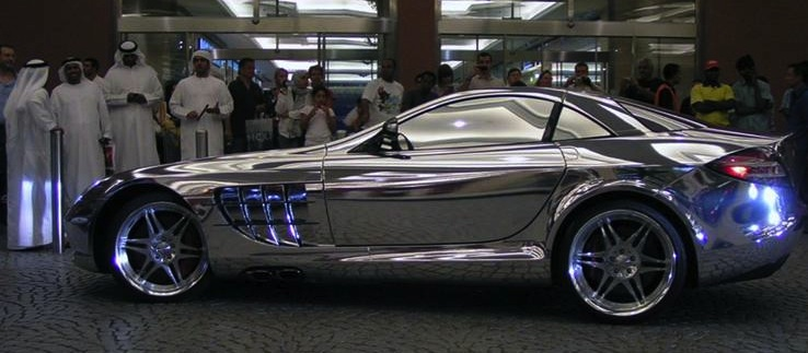 white gold mercedes mclaren, car