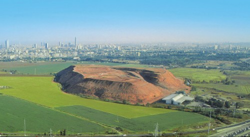 hiria israel's shit mountain garbage photo aerial