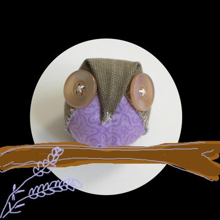 cloth owl recycled materials