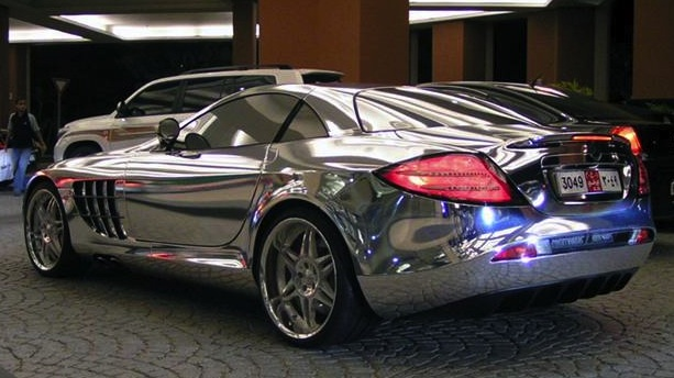 Superb Mercedes Biofuel, White Gold Car Mclaren