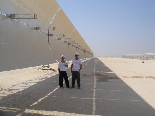 solar field for hybrid solar thermal plant in Kuraymat, Egypt