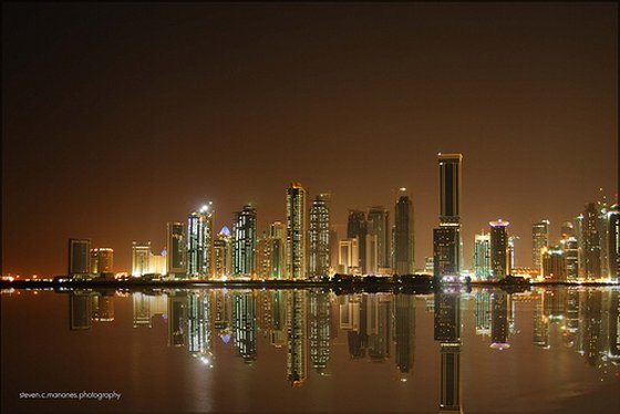 qatar sustainable development doha skyline