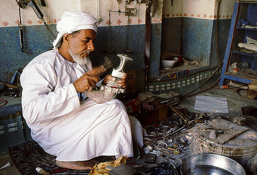 omani handicrafts oman old man photo