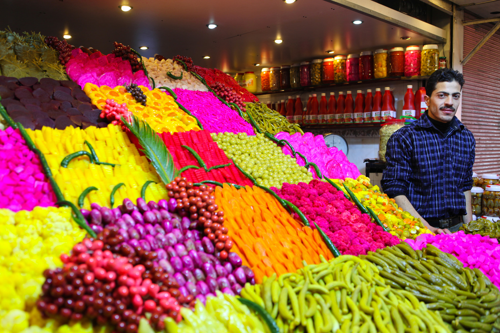colorful damascus farm vegetables syria photo