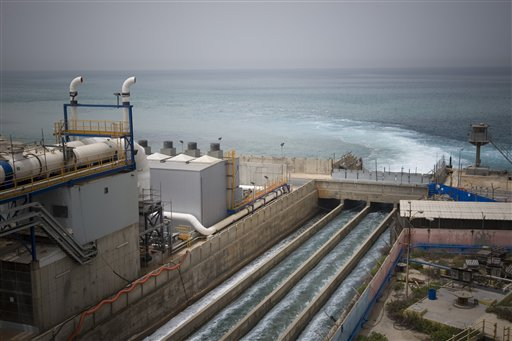 hadera desalination plant photo israel