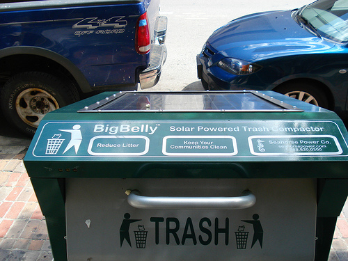 Green Trash From Space – Solar-powered BigBelly Trash Compactor in Jerusalem