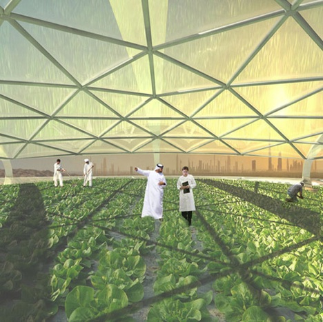 Futuristic Dubai Vertical Farm Uses Seawater to Sustain Crops