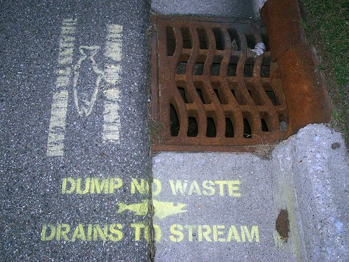 don't dump poison in the sewer