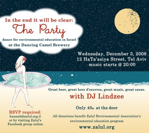 Tel Aviv's Dancing Camel Brewery Holding a Fundraiser for the Zalul Environmental Association