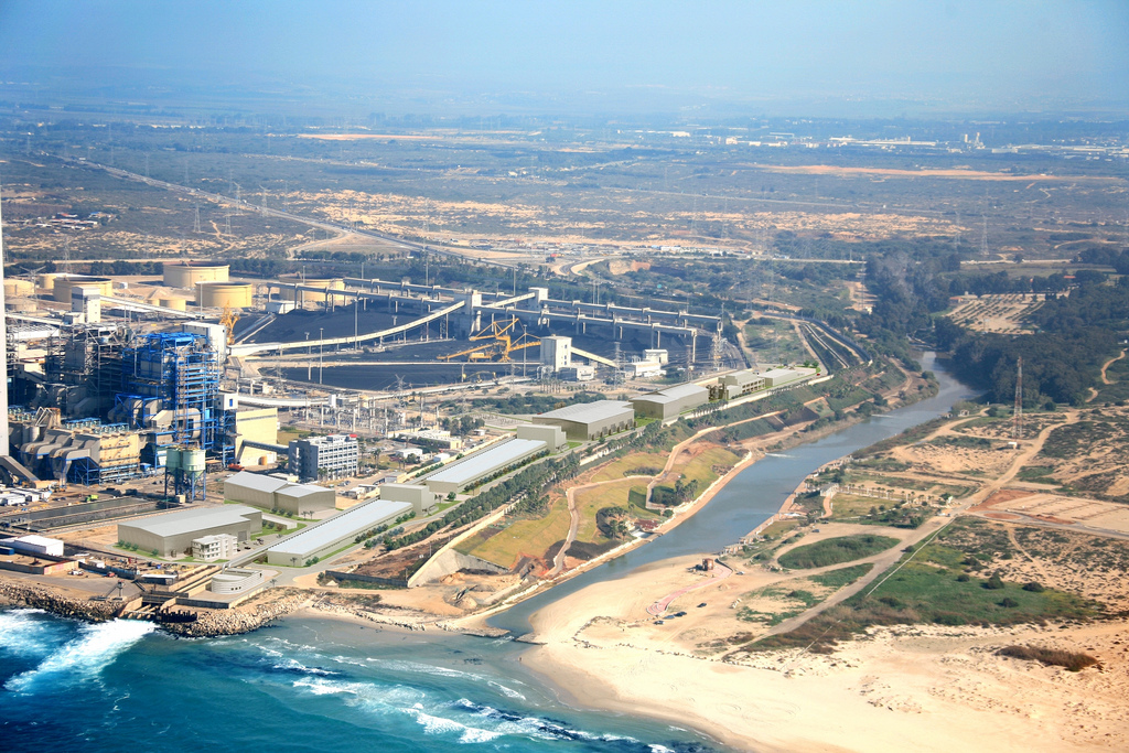 aerial view desalination plant IDE Israel