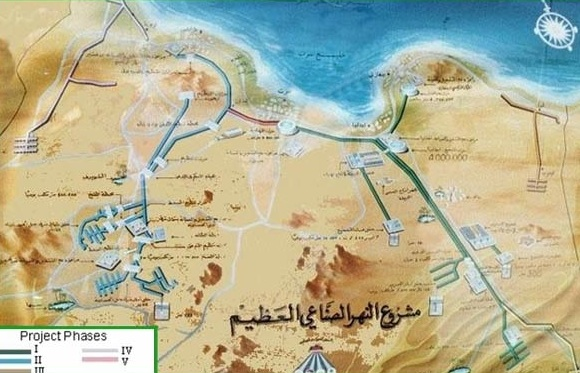 irrigation projects great man made river libya photo map