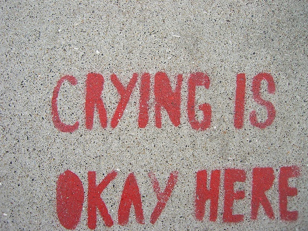 crying is okay sign