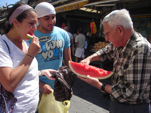 watermelon in market