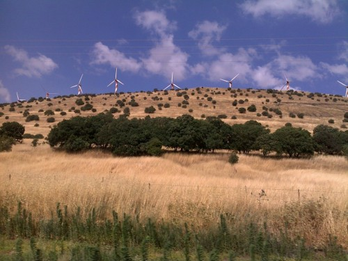 wind farm candycane golan heights israel photo