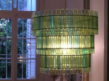 """""""upcycled plastic spoon chandelier"""""""