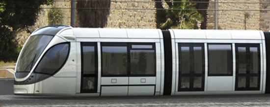 Alstom's light rail train for Jerusalem