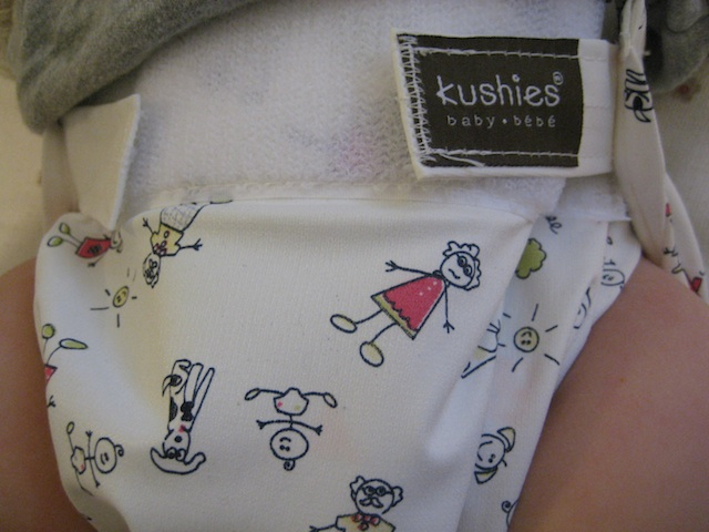 Going Half Way On Kushies Washable Diapers