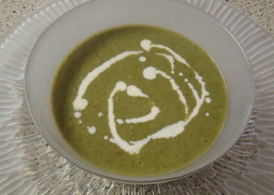 spinach mushroom soup