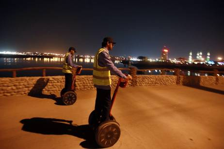 "Segway ""Police"" Achieve Fame For UAE Corniche Cleanup"