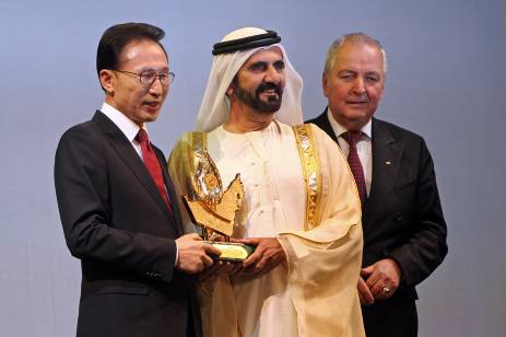 South Korean President Zayed Prize