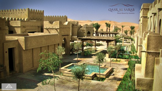 Dubarch, empty quarter desert, abu dhabi, 5 star resort, qasr al sarab