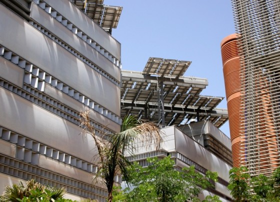 masdar city, green building, zero carbon, abu dhabi, desert