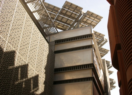 masdar city, abu dhabi, green building, desert, zero carbon