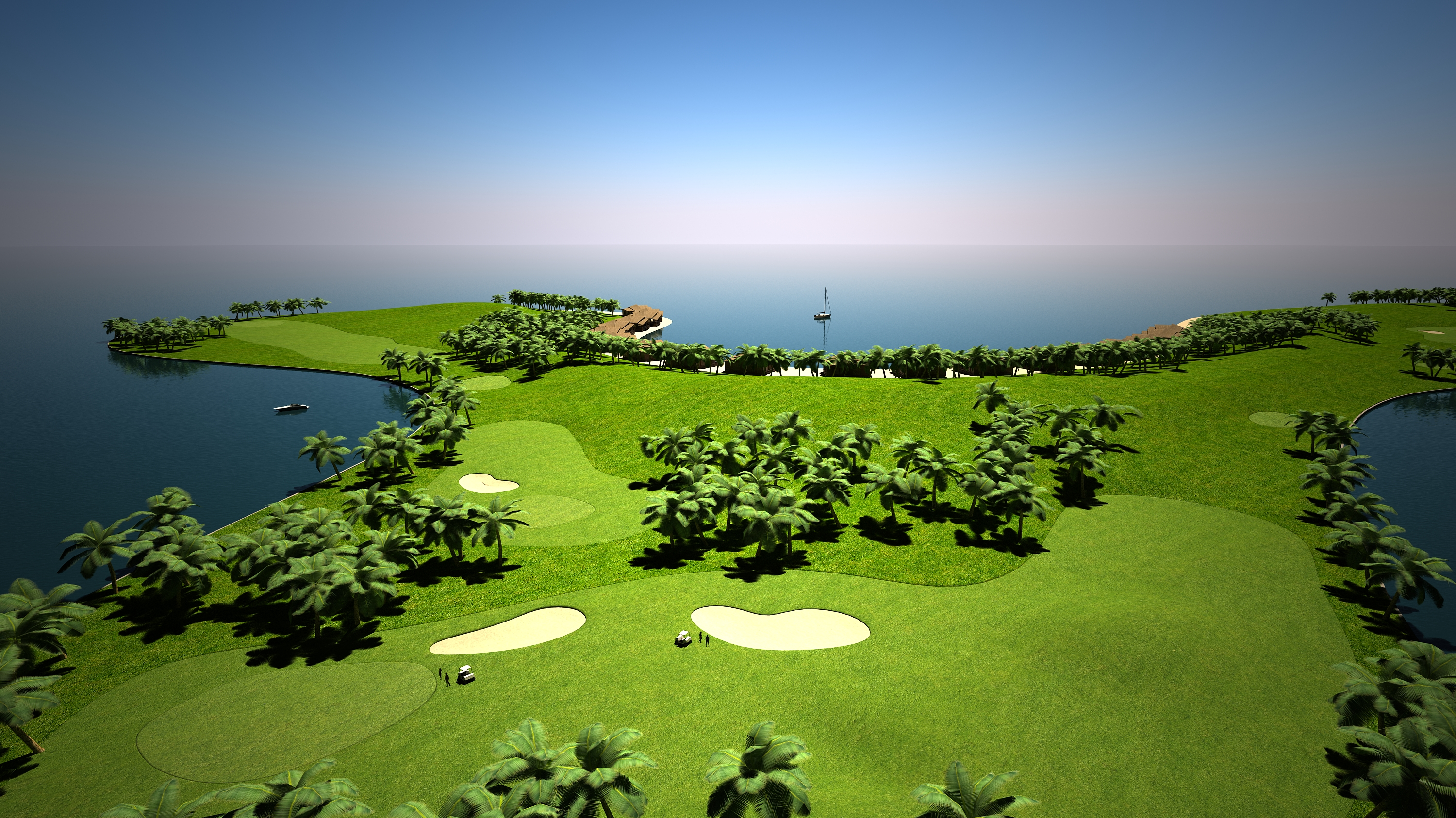 "Maldives' Floating ""Green"" Golf Island Not So Green"