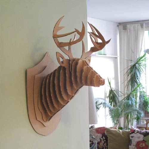 Cardboard Mounted Deer Heads For The Eco Conscious
