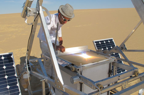 sahara desert, sustainable design, green design, solar energy, markus keyser