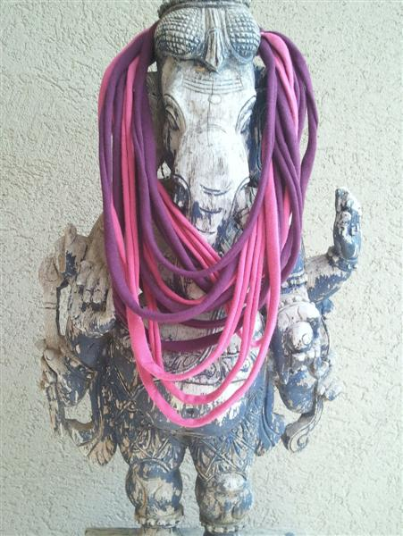 """""""upcycled cloth necklace"""""""