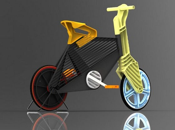 The Recycled Plastic Bike that Never Gets a Flat Tire